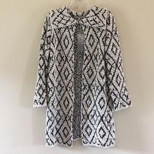 Black and white pattern cardigan